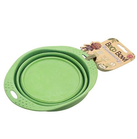 Beco Matskål Hopfällbar Medium Grön från Växtfiber 14cm
