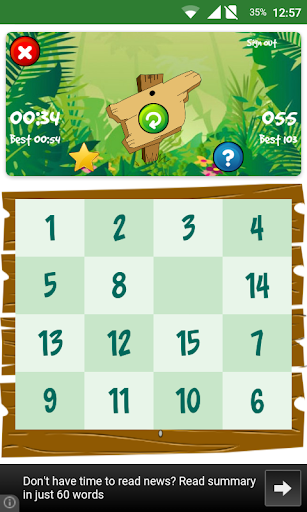 15 Number Puzzle Game