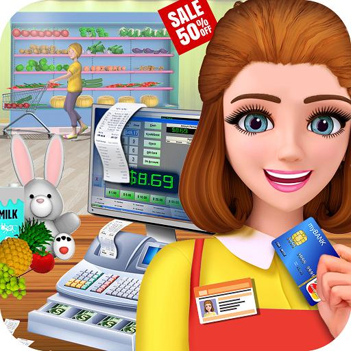 Black Friday Supermarket: Cashier Girl Game