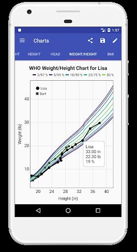 Child Growth Tracker 4.76 Screenshots 3