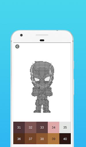 Superhero Coloring By Number - Pixel Art 1.5 screenshots 1