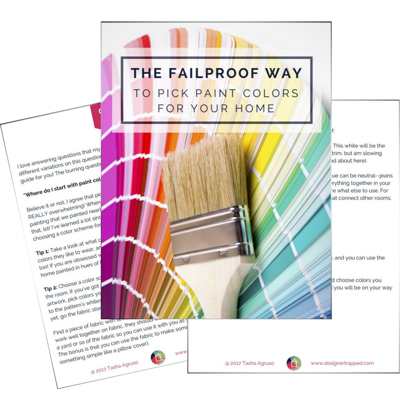 Not sure where to start when picking paint colors for your home? This short guide has all the tips you need for a failproof way to pick paint colors. It works every time!