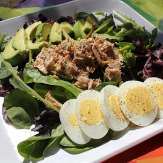 Tuna With Greens, Egg, and Avocado – My Go-To Salad.