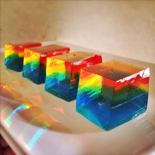 Rainbow, Finger, Jello,  彩虹, 果凍