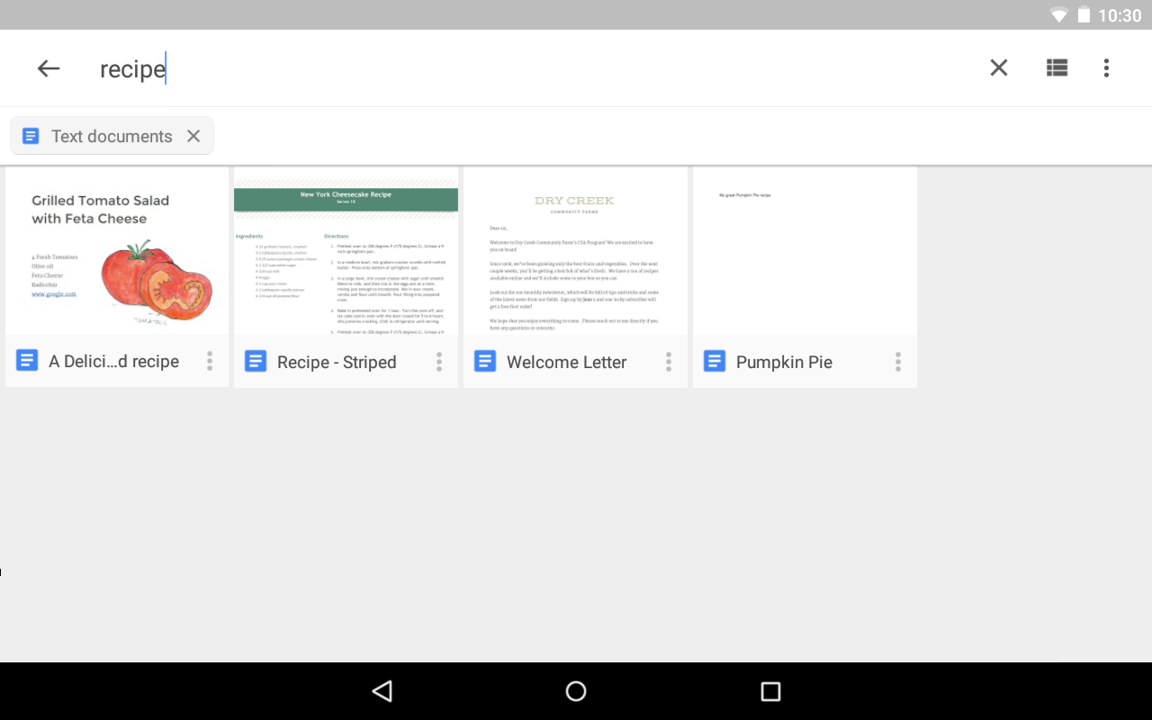 Google Drive: captura de tela