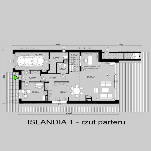 Islandia 1 - Rzut parteru