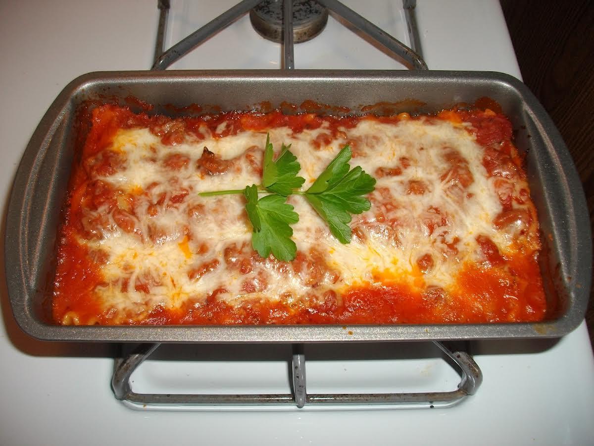 Loaf Pan Lasagna