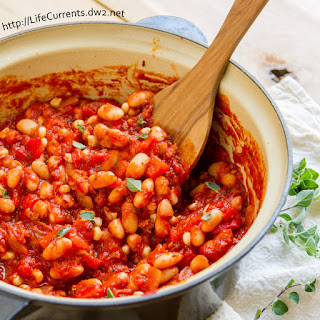 Roasted Red Pepper and White Bean Stew