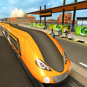 Orange Line Metro Train Game: New Train Simulator