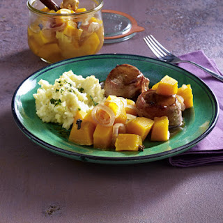 Wild Boar Medallions with Pickled Squash and Mashed Celeriac