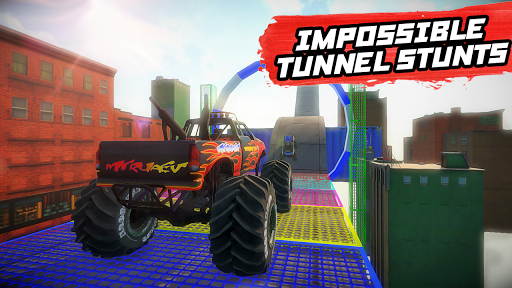Mega Ramp Monster Truck Stunt Racing apkmr screenshots 2