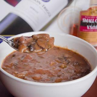 Slow Cooker Brandied Beef & Mushroom Stew.