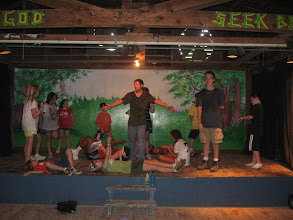 Photo: The stage in the Lodge is great for drama, dance and all kinds of performances