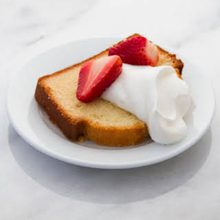 How to Make Condensed Milk Pound Cake with Condensed Milk Chantilly and Macerated Strawberries.
