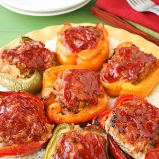 Cajun Meat Loaf Stuffed Peppers Recipe