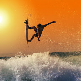 Flying Sunset by Alit  Apriyana - Sports & Fitness Surfing