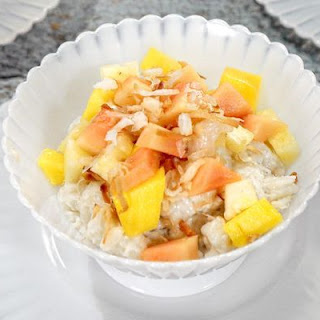 Island Coconut Rice Pudding with Tropical Fruits