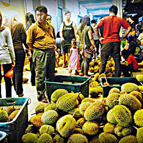 Street Fruit Vendor. by Awang Kassim - City,  Street & Park  Markets & Shops ( market, fruits )