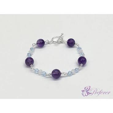 [NSN021] 簡約深紫水晶手鏈