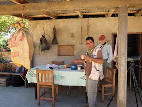 Photo: Our guide Cornelio at lunch - tortillas and fried eggs.