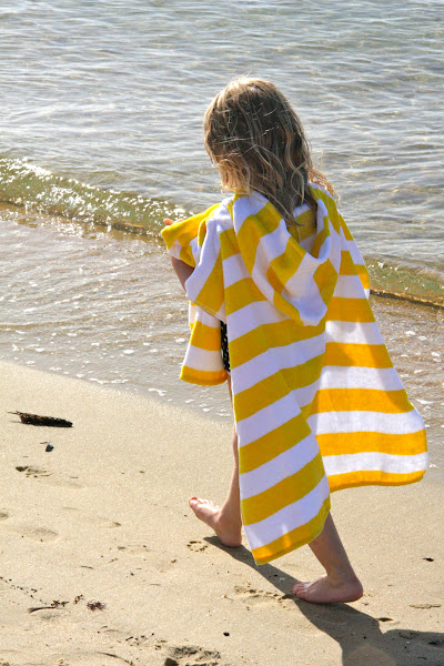 Photo: Teeny Me Yellow Nautical Stripe Poncho