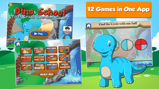 Dino 1st Grade Learning Games screenshots 1