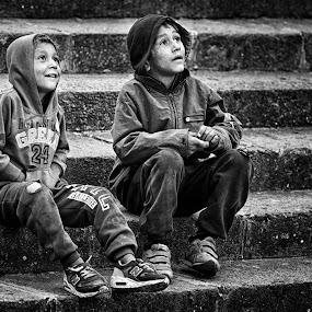 Wish upon a star by Cristian Manolache - Babies & Children Children Candids ( journalism, black and white, childhood, kids, macedonia, photography, street photography )