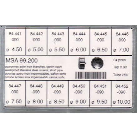 SORT. KRONOR 0,90 TUB250 K 24 ST STÅL 4,5-10 mm