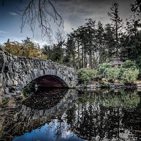 Stone Bridge, Victoria BC by GThomas Muir - Buildings & Architecture Bridges & Suspended Structures ( landscapes, lakes, victoria bc, bridge, beacon hill park, lakescape )