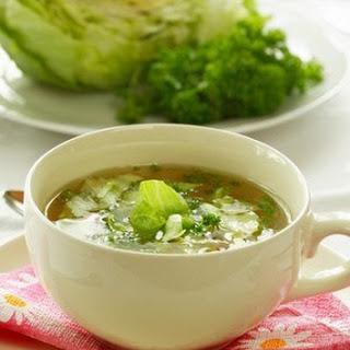 Potato And Sorrel Soup With Mackerel