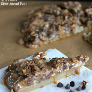 Butterscotch Chocolate Shortbread Bars.