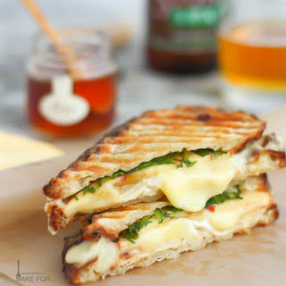Chicken, Brie and Apple Panini.