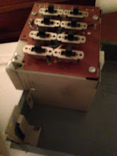 Photo: Getting ready to remove the switch panel here, notice how the screw slot is open at the end.