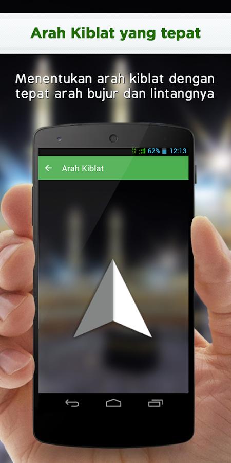 Alarm Adzan Sholat dan Kiblat- screenshot