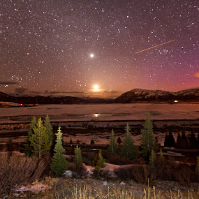 Leadville Nightscape by Jamie Link - Landscapes Mountains & Hills ( million dollar highway, jamie link photography, beautiful mountains, route 550 colorado, colorado wilderness, night landscape photography, pes, beautiful landsca, colorado mountains, milky way galaxy photography )