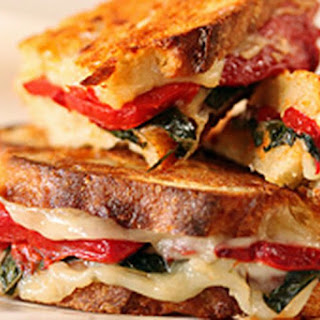 Roasted Red Pepper, Basil & Provolone Sandwiches Recipe