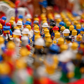 Le Group by Rob Rickman - Abstract Fine Art ( smile, lego, hat )