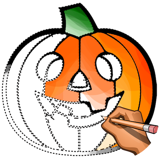 Learn to Draw Halloween: Drawing, Color Book Pages Icon