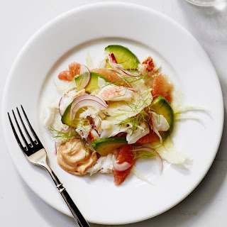 Crab, Grapefruit and Fennel Salad with Paprika Aioli.