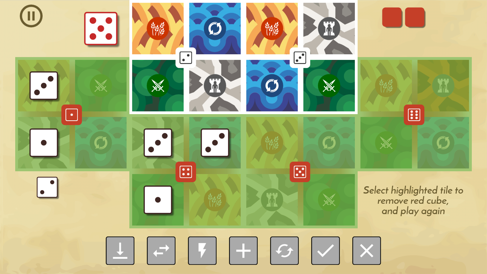 Land 6 Board Game- screenshot