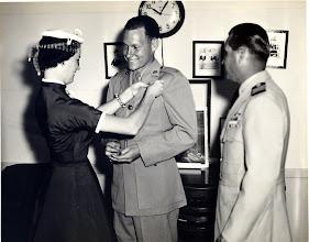 Photo: ____, Pinning wings on 2nd Lt. Patrick Alonzo Tillery 1956