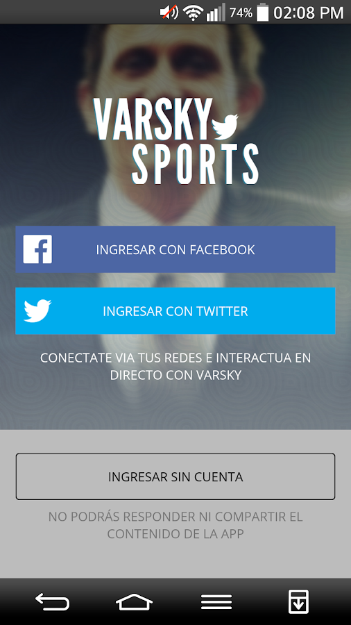 Varsky Sports: captura de pantalla