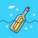 Floating Bottle -  Message meet new friends icon