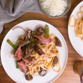 Steak & Mushroom Alfredo.