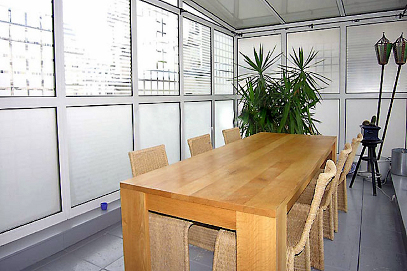 Dining space at Pantheon apartment