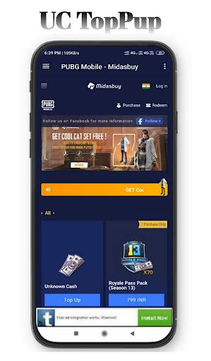 MidasBuy - Topup BC & UC   Free redeem code& gifts 1.7 screenshots 3
