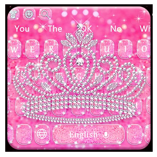 Pink Diamond Crown Keyboard