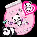 Pink Lovely Panda Theme icon
