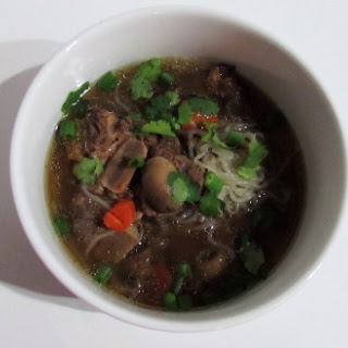 AIP Paleo Beef Neck Bone Noodle Soup