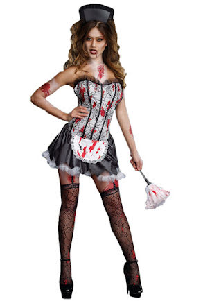 French maid, blodig
